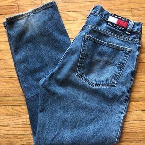 Vintage 90s Tommy Jeans Big Flag Mens Jeans 36x32